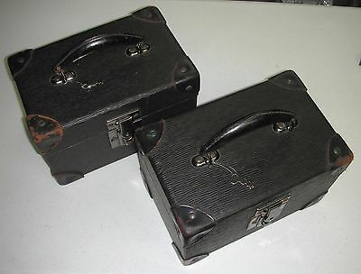 - Vintage Pair Of Universal Camera Corp 16MM Film Storage Cases With Keys -