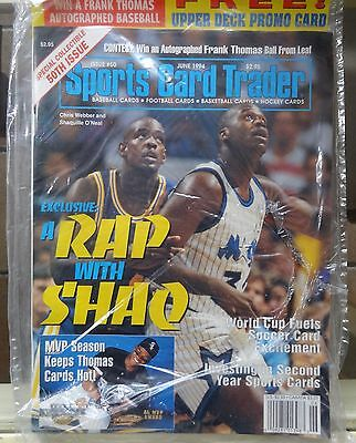 Sports Card Trader June 1994 sealed Shaq and Webber 50th issue