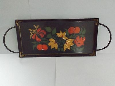 Small Vintage Tole Painted Tray, 1952