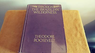 Through The Brazilian Wilderness By Theodore Roosevelt (1914 First Edition HC)
