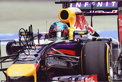 Sebastian Vettel Signed Autographed 8X12 Inches 2014 F1 Red Bull Photo