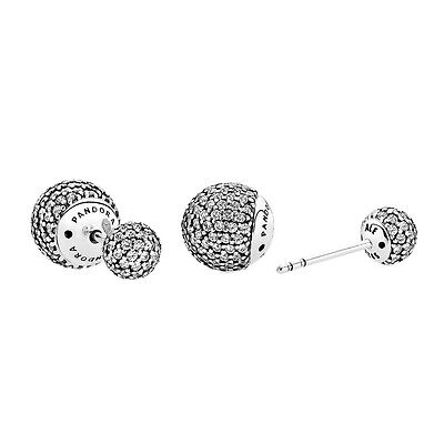 Genuine Pandora Encrusted Drops Earrings 290737CZ with Pandora Gift Box