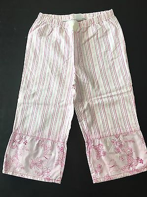 Naartjie Girls 9 Capri Pants Pink Butterfly Cute Rare