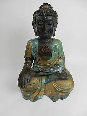 Large Antique South East Asian Gilt Bronze Buddha 23 inches 70lbs!!
