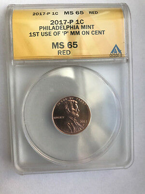 2017 P Lincoln 1C Ms 65 Red Anacs 1St Of A Kind In History Special Label