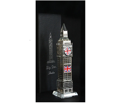 Big Ben   Clock 3D Laser Multi Lights London Souvenir Ornament 19CM