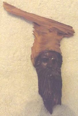 """Vintage Woodware--African Hand Carved Bust Jesus Christ--9 1/2"""" Tall--Very Nice"""