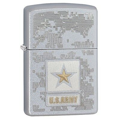 Zippo 29388, United States Army, Satin Chrome Lighter, Full Size