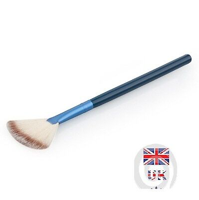 Professional Fan Makeup Brush Face Powder Cheek Blush Highlighter Bronzer UK