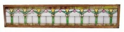 Early 20Th Century Craftsman Style Leaded Art Glass Style Transom