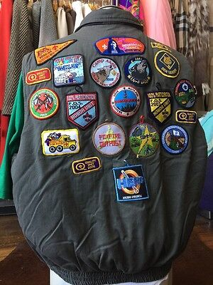 VTG Boy Scouts Den Leader patches Vest Sz XL Men's MN Patch