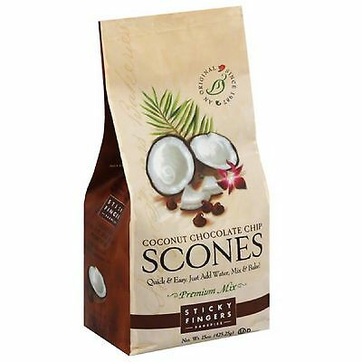 COCONUT CHOCOLATE CHIP SCONE MIX By Sticky Fingers Bakeries  ~ MADE IN USA