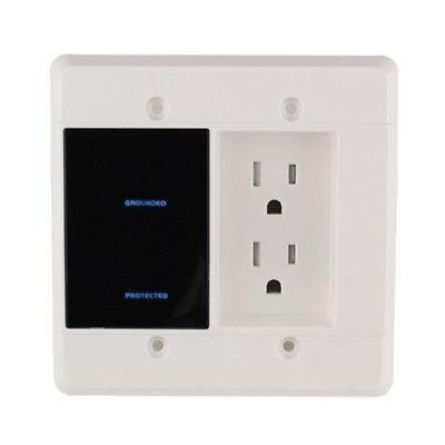 Power Series In Wall Surge Protector With Recessed Dual Outlet, 1080 Joules