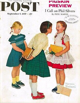 The Saturday Evening Post September 7 1957 Norman Rockwell  Vintage Americana