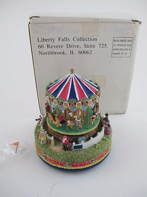 Liberty Falls NEW Musical CAROUSEL COMES TO TOWN Village AH444 Merry Go Round