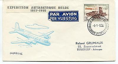 1958 Expedition Antarctique Belge Borgehout Polar Antarctic Cover
