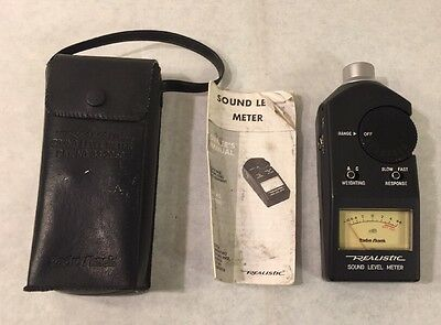 Realistic #33-2055 Digital Sound Level Meter with Case. Excellent Condition