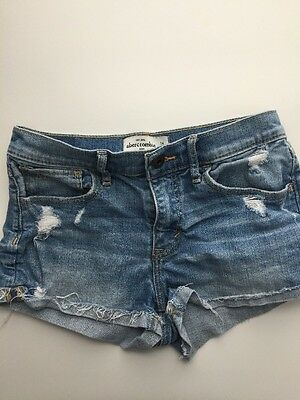 Abercrombie Kids Distressed Destroyed Ripped  Denim Shorts Girls Kid Size 14