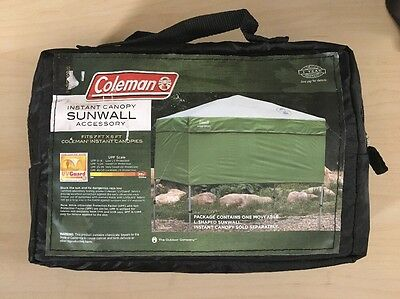 CLOSEOUT Old Stock Unused Coleman Instant Canopy Sunwall Accessory 7x5-Feet