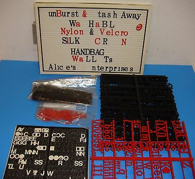 """Magnetic 14"""" x 9 1/2"""" Advertising Message Board Tons of Letters"""