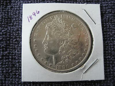 1896 plain Morgan silver Dollar