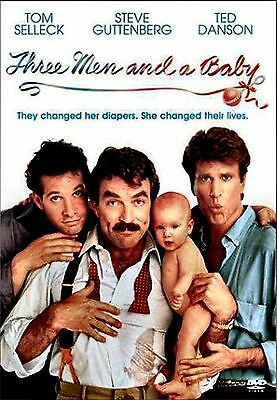 NEW DVD // THREE MEN & and a BABY - Tom Selleck, Steve Guttenberg, Ted Danson,