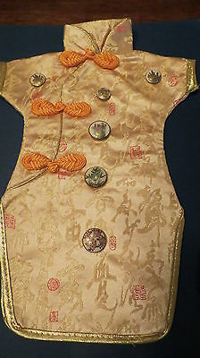Antique and vintage Satsuma Buttons on Small Kimono Excellent condition