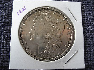 1921 plain Morgan silver Dollar