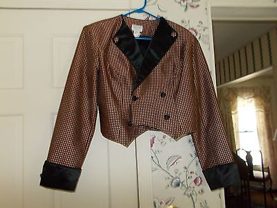 Hobby Horse Size Large Showmanship/driving Jacket In Pink/brown Blackcuffs/colla