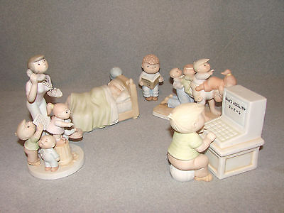 Lot of 6 Different Adorable Bil Keane's Family Circus Figurines-Clay in Mind
