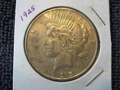 1925 Plain Peace silver Dollar