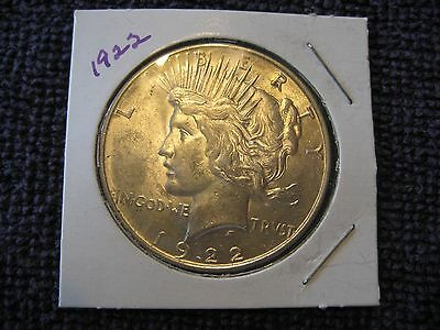 1922 Plain Peace silver Dollar