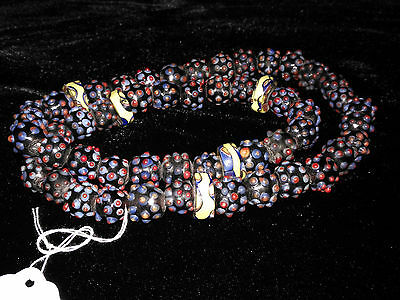 Trade beads from Venice to Kalimantan Indonesia circa 1900 rare bead necklace