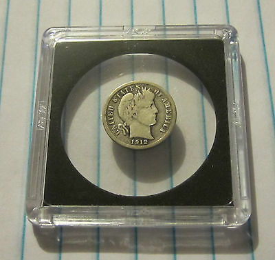 1912-S Barber Dime, Very Good + Low Mint Coin. .50 Ship