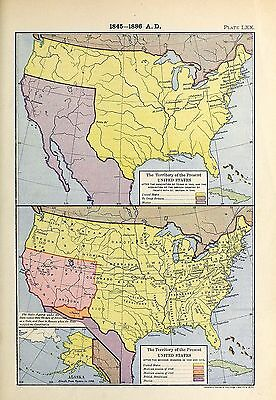1905 map Territory United States AFTER Annexation Texas Mexican Cessions 70