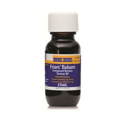 Gold Cross Friars' Balsam Nasal Inhaler Benzoin Tincture BP Antiseptic 25ml