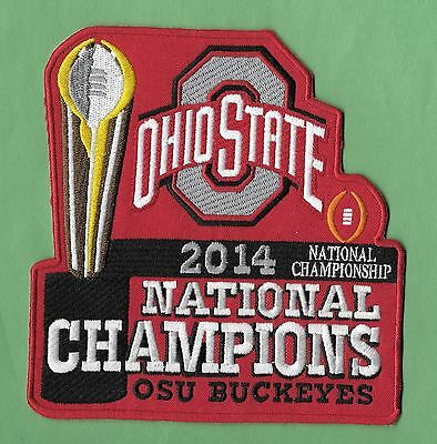 """New Ohio State Buckeyes 2014 Champions 5 1/2 X 6 """" Iron on Patch Free Shipping"""
