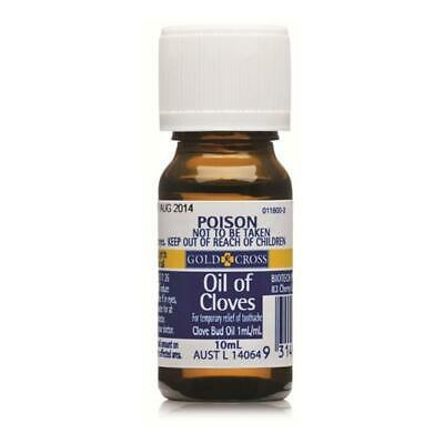 Gold Cross Oil Of Cloves Toothache Relief Antiseptic Pain Reliever 10ml