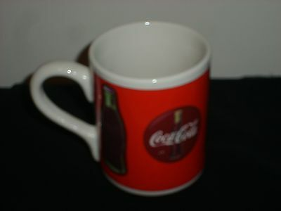 1997 Coca Cola Ceramic Coffee Cup Mug by Gibson -- Red & White