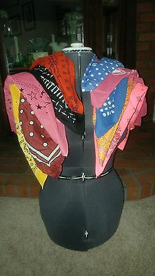 10 Misc. New - Vintage Bandanas Advertising Red Yellow Blue Black Pink