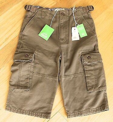 NWT MINI BODEN Boys Brown Cargo Shorts - Size 10Y - New