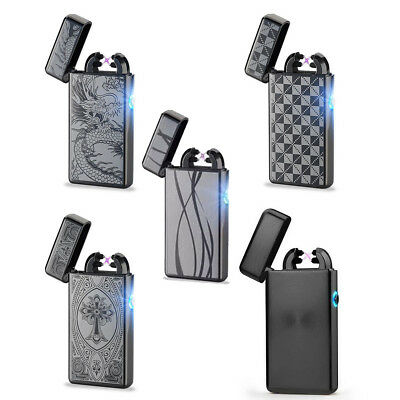 Double ARC Pulse Lighter Flameless Electric Plasma Torch USB Charge