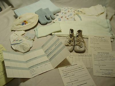 Vintage Lot of Baby Clothes from 1954 includes Shot Records