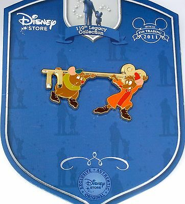 LE Disney Pin✿Cinderella 110th Legacy Collection Jaq Gus Mice Gold Golden Key LE