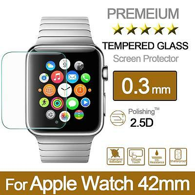 Premium Tempered Glass Screen Protector Film for Apple Watch Series 1/2, 42mm