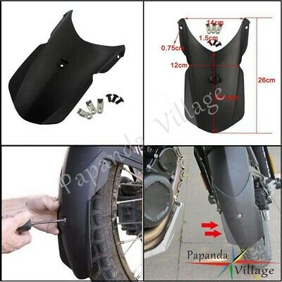 ABS Front Fender Extender Extension For BMW F650GS (twin) F800GS /Adv EV Black