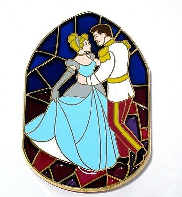 RARE LE 100 Disney Pin✿Princess Cinderella Prince Henry Dancing Stained Glass LE