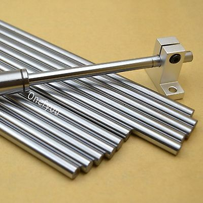 8mm Chromed smooth Rod steel linear rail shaft For CNC 3D printer Reprap 30-40cm
