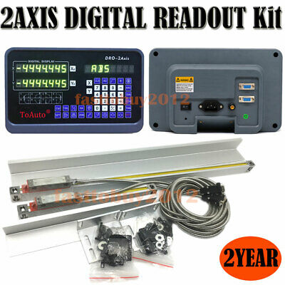 2Axis Digital Readout Display for Milling Lathe Machine Linear Scale DRO Encoder