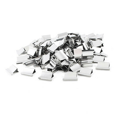 B9 100 pcs 15mm x 10mm x 5mm Metal Reusable Refill for Clam Clips Dispenser U8J5